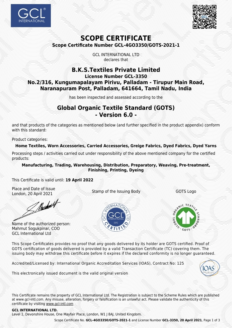 B K S Textiles Private Limited